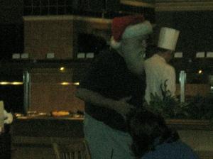 Santa Claus at the casino buffet