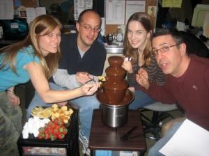 With Karl, Rachel and Ken