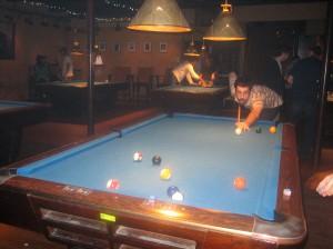 Scott playing pool
