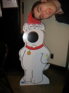 Rick and Brian the dog