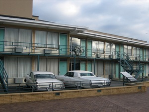 The wreath on the balcony is where MLK was shot
