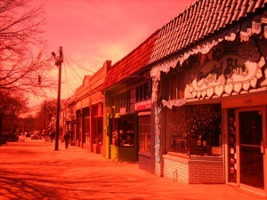 Funky pic of Euclid St. in Little Five Points