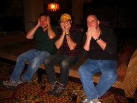 Keith, Steve and Tony at the Radisson bar