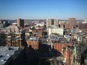 View from the top of the monument