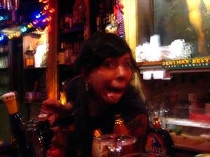 Crazy bartender Michelle