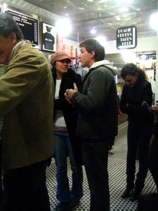 Naomi and Patrick in line