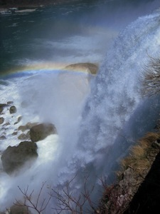 A rainbow over Bridal Falls