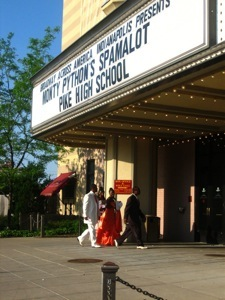 Prom Night at the Murat - from the marquee it looks like Spamalot is playing at Pike High School