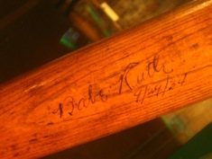 One of Babe Ruth's signed bats