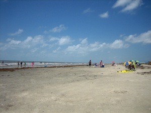 The beach in Galveston