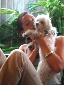Siobhan with Ang's dog, Missy