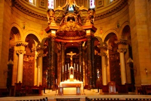The altar inside the cathedral