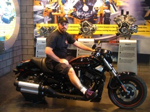 Ryan at the Harley Factory