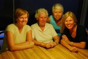 Becky, Granny, Mummy, Fran