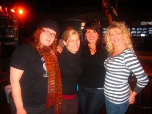 Fran, me, Elaine and Suzanne - the coolest crew chicks ever