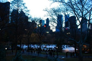 The ice rink in Central Park