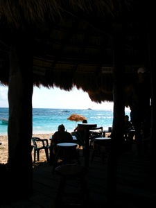 A bar on the beach