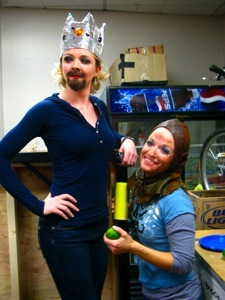 Julie and Paula as King and Patsy