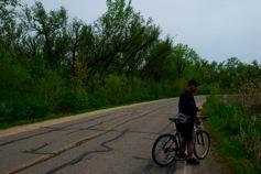 Ryan biking through the Arboretum