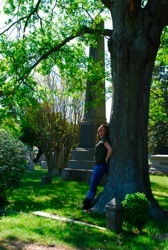 Taking pictures at an old cemetery in Raleigh