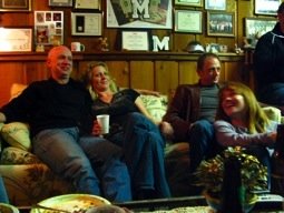 Gurr, Suzanne, Matt and Paula hanging out at Darryl's