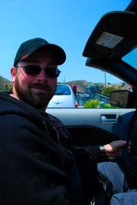 Ryan in the convertible