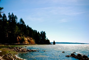 Northern coast of Stanley Park
