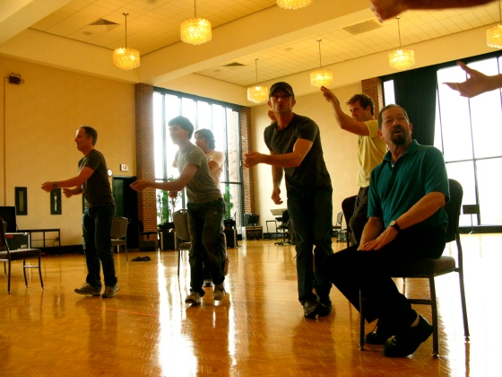 "The boys rehearsing ""Bright Side"""
