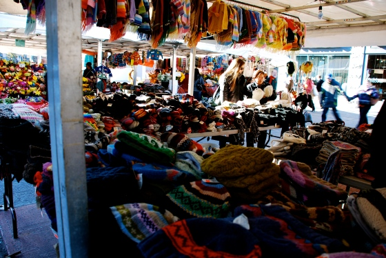 Woolens for sale at Byward Market