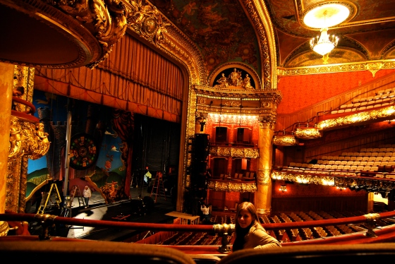 At the Colonial Theater in Boston