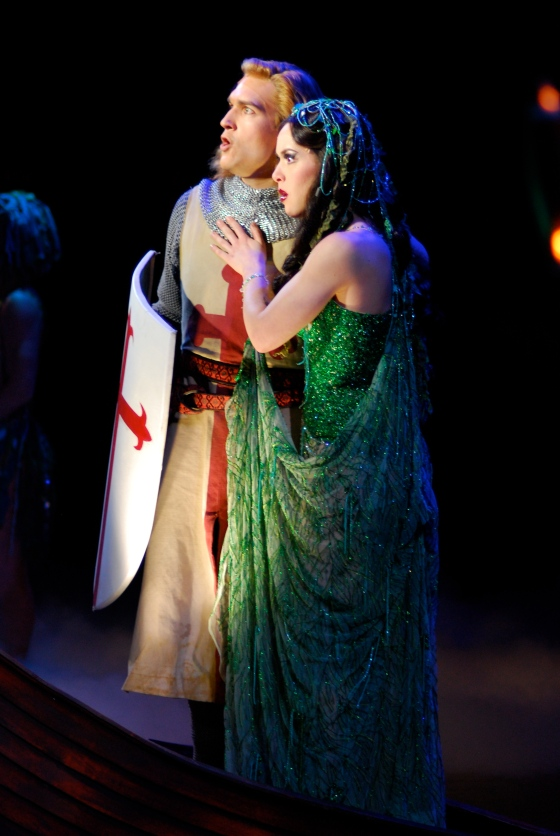 David as Galahad with Esther Stilwell as the Lady of the Lake