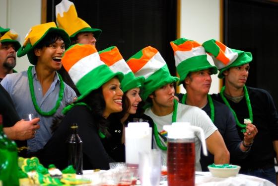Celebrating St. Paddy's Day at shot night