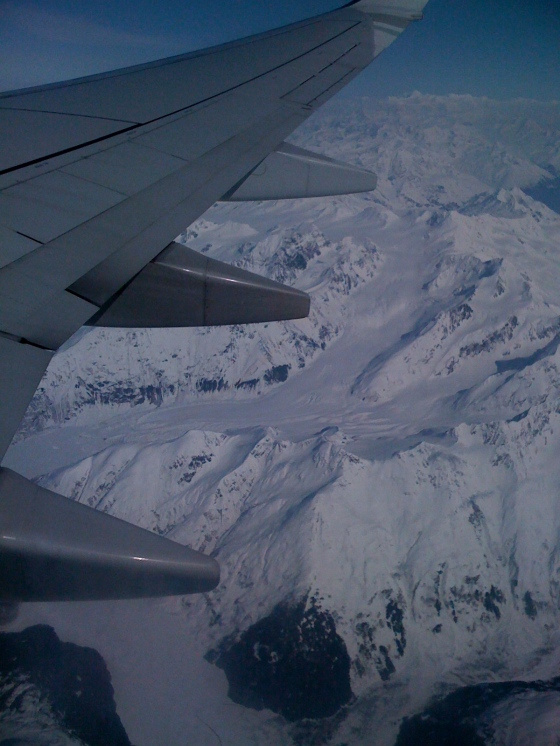 Alaska, as seen from the plane