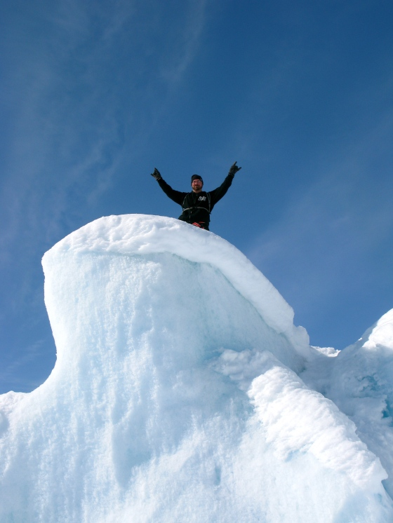 Ryan, on top of an iceberg!
