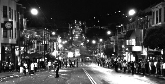 Castro Street at 1am on Pride Weekend
