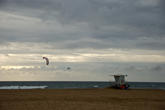 An overcast day at the Huntington Beach