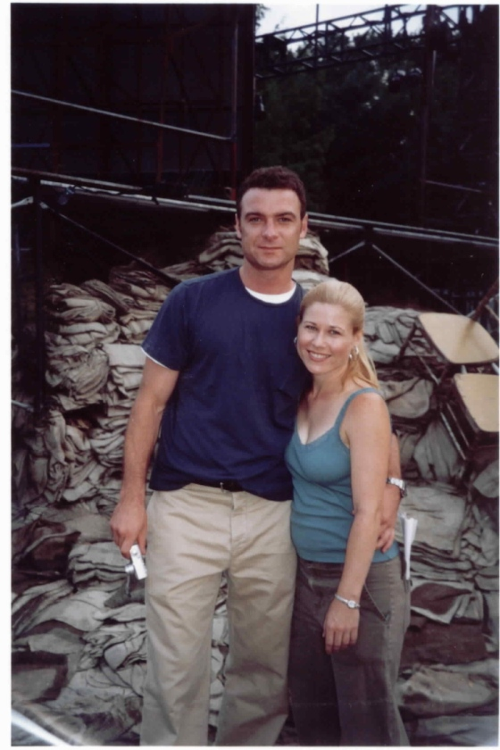 Working on Henry V with Liev Schreiber, 2003